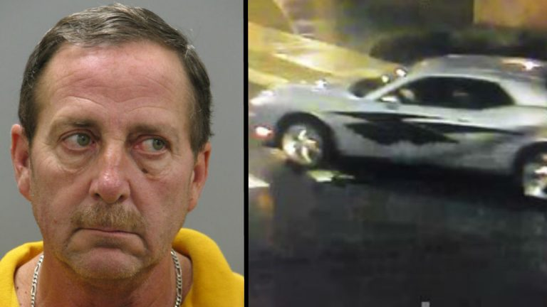 Newark Police identified Donald Maxwell as a suspect in an indecent exposure case at the University of Delaware by using surveillance cameras to connect his car to the scene. (photo courtesy Newark Police)