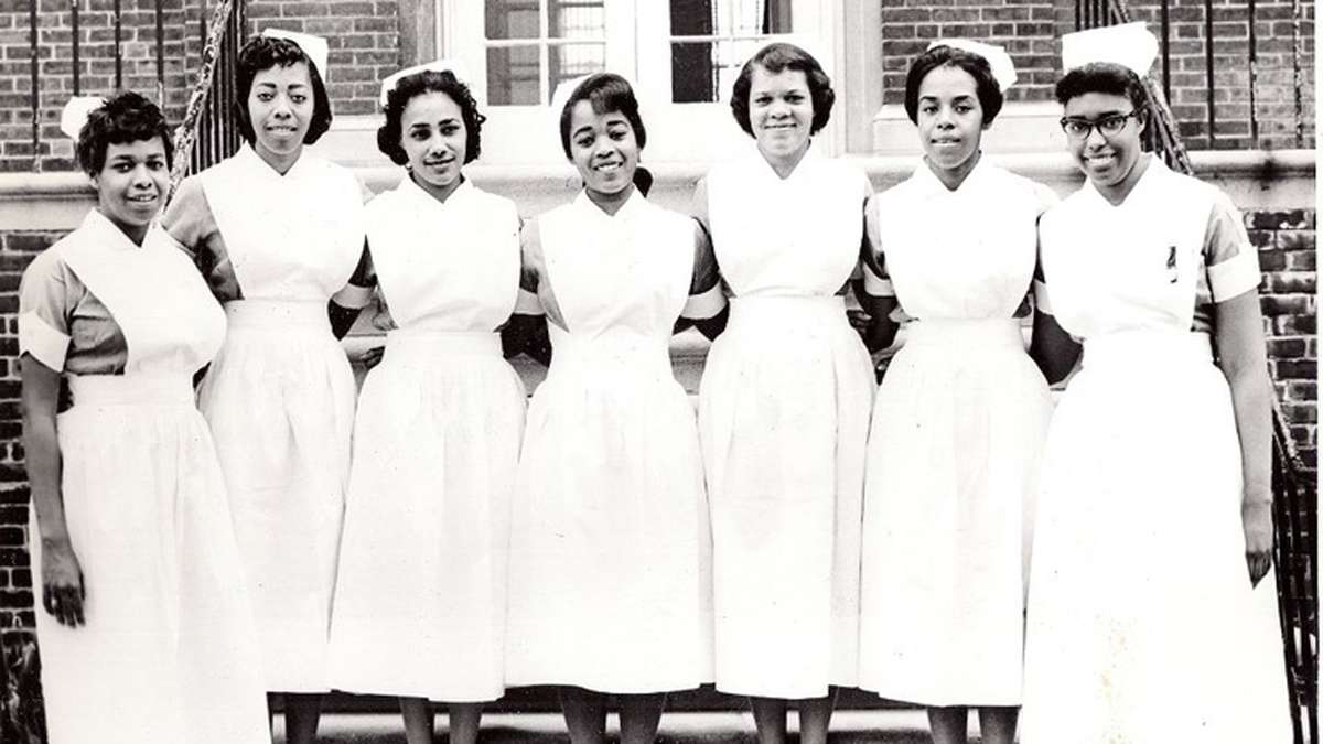 Mercy Douglass' graduating class of 1960 (Photo courtesy of Barbara Bates Center for the Study of the History of Nursing/http://www.pinterest.com/nursinghistory/mercy-douglass-son/)