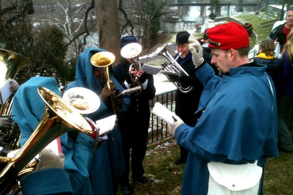 <p><p>The Philadelphia Brigade Band played Civil War era music, including the Battle Hymn of the Republic. (Karl Biemuller/for NewsWorks)</p></p>