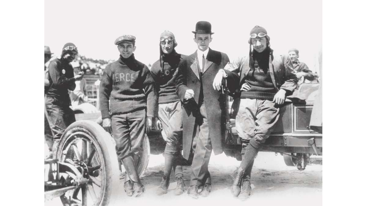 Pictured here is the 1911 Mercer Automobile Company Racing Team
