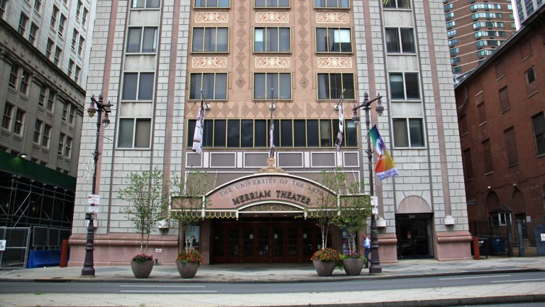 Renovations to the Merriam Theater on South Broad Street  will be guided by public input. (Emma Lee/WHYY)