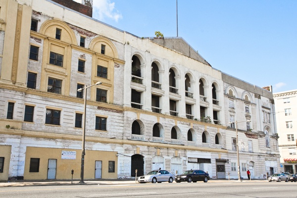 <p><p>Philadelphia's Metropolitan Opera House was built in 1908. It has been neglected over time and now stands dilapidated. Developers of the North Broad corridor are planning to revive the building. (Kimberly Paynter/for NewsWorks)</p></p>