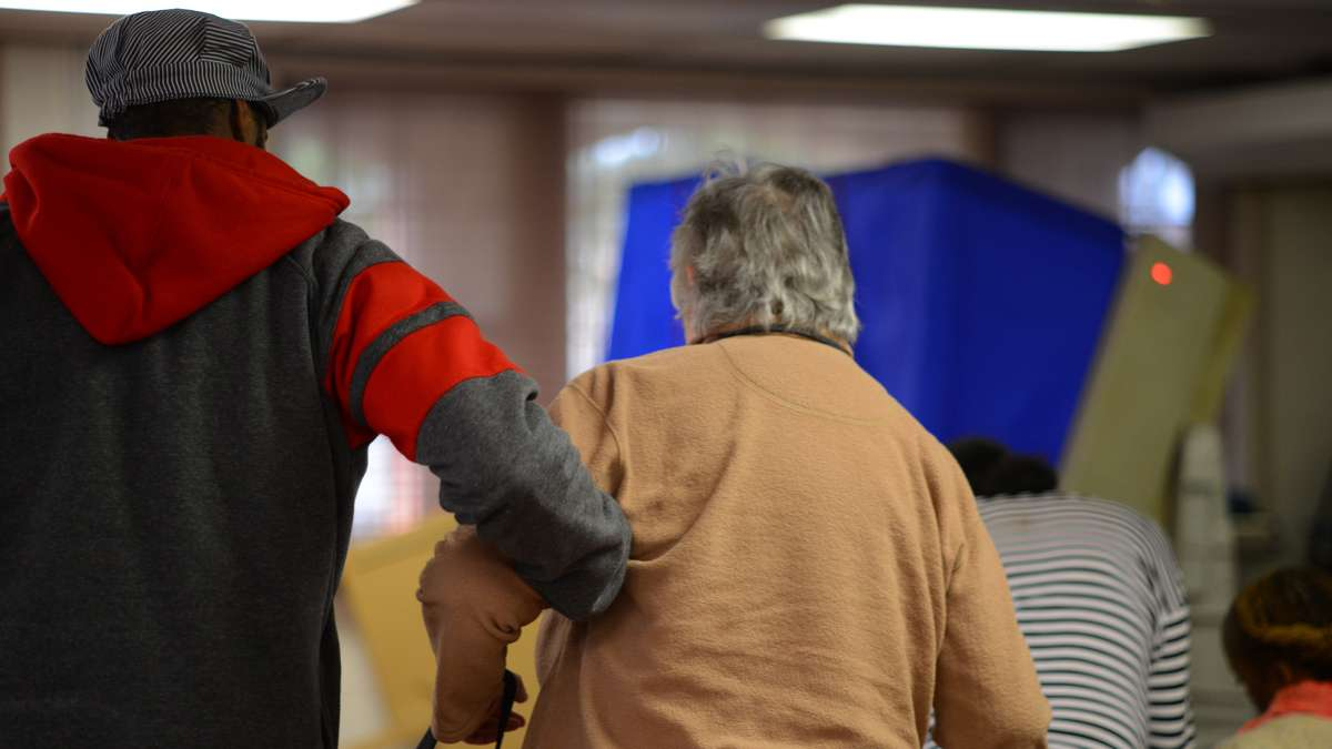 Scenes at the polling places as people cast their votes during the General Elections. (Bas Slabbers/for NewsWorks)