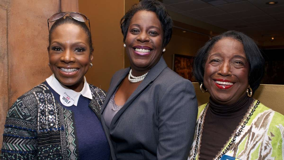 Sheryl Lee Ralph, state Rep. Cherelle Parker and City Councilwoman Marian Tasco were all smiles at Relish in West Oak Lane. (Bas Slabbers/for NewsWorks)