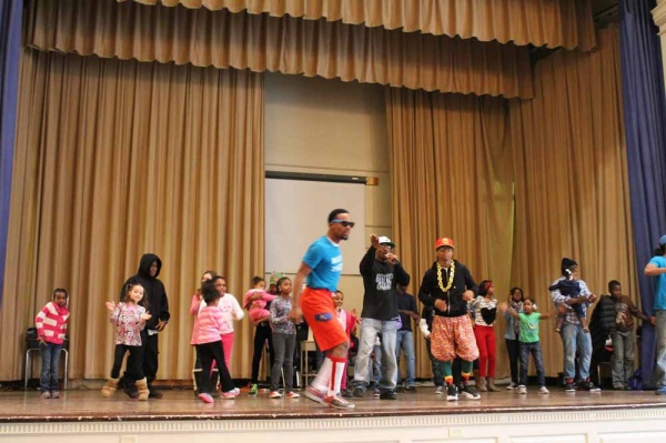 <p><p>The hip-hop nutrition group, Special EFX, gets the crowd moving at the Mifflin Community Festival. (Photo courtesy of FOMS)</p></p>
