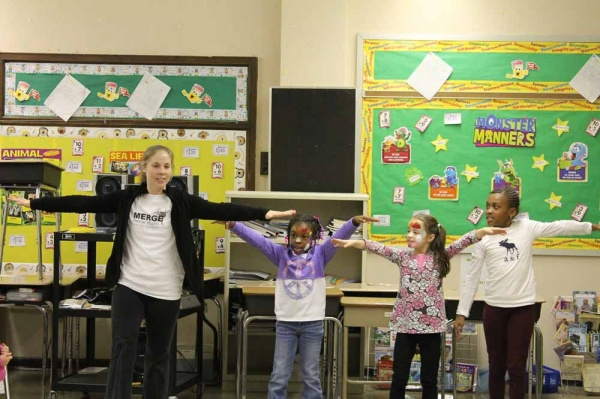 <p><p>Merge Dance Studio provided lessons for little ones (Photo courtesy of FOMS).</p></p>