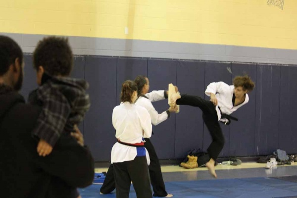 <p><p>The next generation of black belts looks on as Hidden Tiger Karate Studio performs (Photo courtesy of FOMS).</p></p>