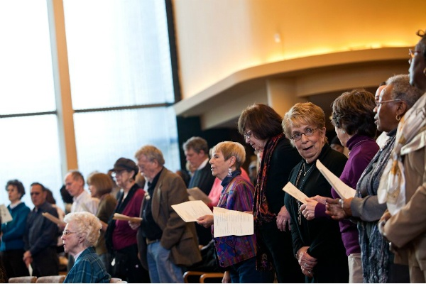 <p><p>Singing along with another song performed by M' B Singley. (Brad Larrison/for NewsWorks)</p></p>