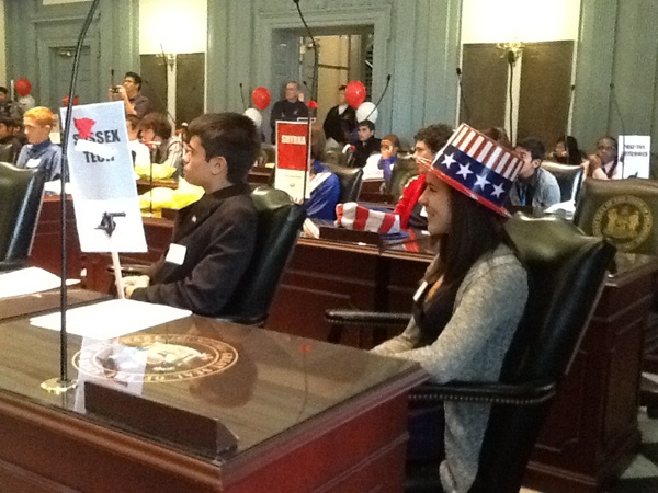 <p>Students from Delaware's public and private schools participate in mock election</p>