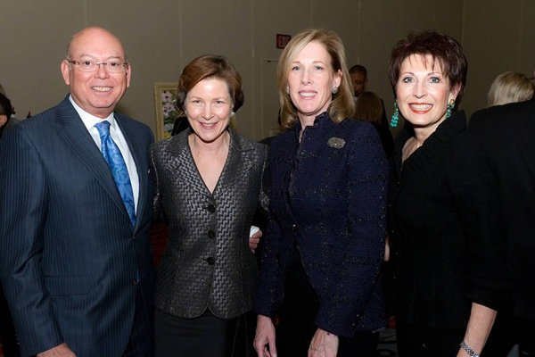 <p><p>Romulo Diaz (left), Kimmel Center president and CEO Anne Ewers, Patricia Wellenbach, and Dianne Semingson (Photo courtesy of Mark Garvin)</p></p>