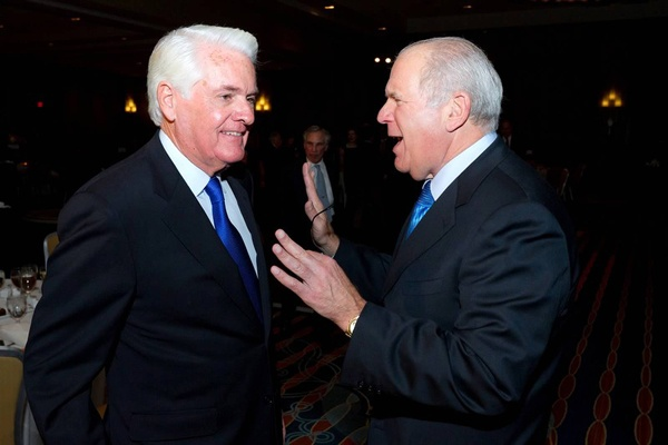 <p><p>John Fries (left) and Ira M. Lubert, dinner cochair and chairman of Independence Capital Partners and of Lubert-Adler Partners, L.P. (Photo courtesy of Mark Garvin)</p></p>