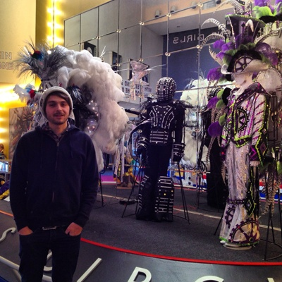 <p><p>Lance Saunders is shown visiting the Mummers Museum at Washington Avenue and 2nd Street in Philadelphia. (Emma Fried-Cassorla/for Philly Love Notes)</p></p>