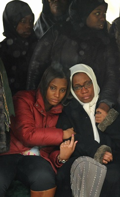 <p>&lt;p&gt;Leslie Glenn, right, Najji's mother, is comforted by niece Imani Glenn during the service at the gravesite. (Peter Tobia/for NewsWorks)&lt;/p&gt;</p>