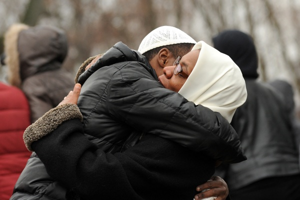 <p>&lt;p&gt;A funeral attendee hugs Leslie Glenn, mother of Najji Abdul-Rahim, at the end of the service. (Peter Tobia/for NewsWorks)&lt;/p&gt;</p>