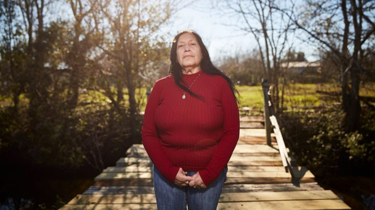 Theresa Dardar is leading an effort among several Louisiana tribes to restore their food sovereignty—the sustainable production of healthy, culturally appropriate food—as the land around them disintegrates. (Courtesy of Edmund D. Fountain)
