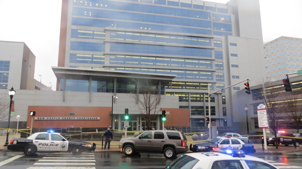 <p><p>Wilmington Mayor Williams was among the first on the scene. His office is blocks away. (Mark Eichmann/WHYY)</p></p>