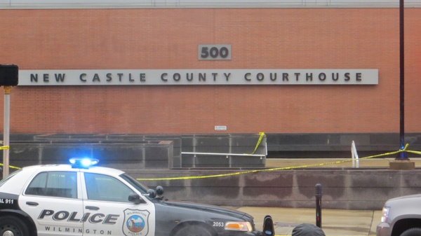 <p><p>The New Castle County Court will be closed through Tuesday. A-G Biden says any court workers who need help will be provided assistance in light of the shooting. (Mark Eichmann/WHYY)</p></p>