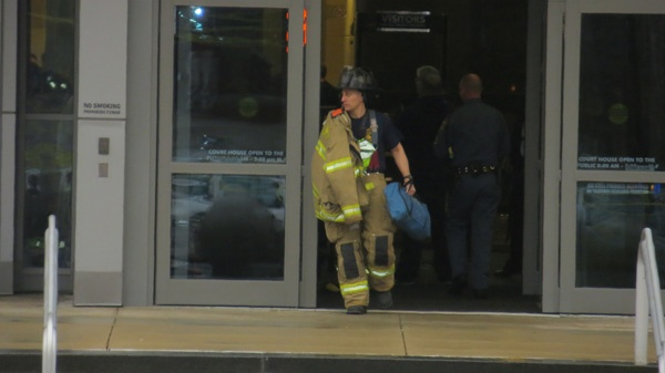 <p>&lt;p&gt;State and Wilmington authorities searched all 9 floors of the New Castle County building after the morning shooting. (Mark Eichamann/WHYY)&lt;/p&gt;</p>