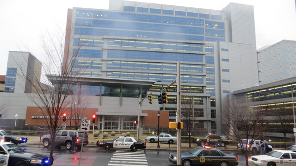 <p><p>The court complex in Wilmington moments after the 8am shooting death of 3 people. (Mark Eichmann/WHYY)</p></p>