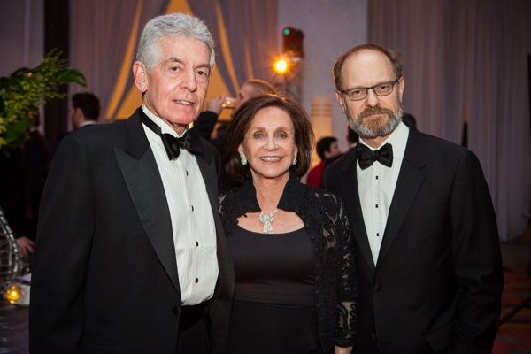 Dr. Andrew Wechsler (left) and his wife, board member and gala committee member Donna Wechsler, with actor David Hyde Pierce, member of Opera Philadelphia's American Repertoire Council (Photo courtesy of Sofia Negron Photography)