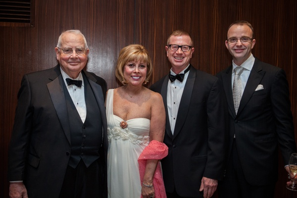 N.O.W. Co-Chairs R. Anderson Pew (left) and his wife Daria, with Opera Philadelphia Chairman Daniel K. Meyer and General Director David B. Devan (Photo courtesy of Sofia Negron Photography)