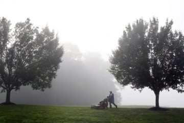 A foggy morning in Newtown Township, Pa. (Mel Evans/AP Photo, file)