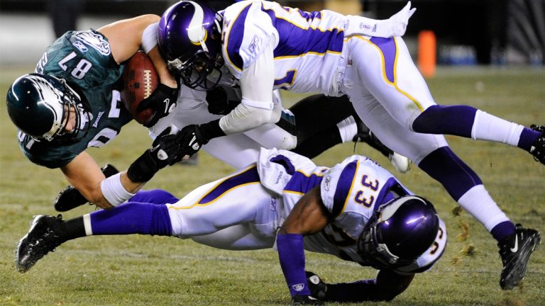 More than 4,000 former professional football players are part of a lawsuit claiming the NFL failed to warn them about the dangers of head injuries. (AP Photo/Miles Kennedy, file)