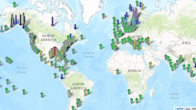 Why Do Rates Of Global Sea Level Rise Vary Locally The Pulse WHYY - Global sea level rise map