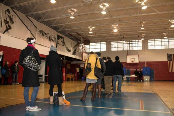 <p><p>Voters line up in the North Light Community Center's gym in Manayunk to vote on Tuesday morning.  (Francis Hilario/for NewsWorks)</p></p>