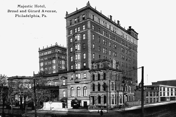 <p><p>The grand Majestic Hotel and apartment house was built in 1902 at Broad and Stiles streets. (Historical image courtesy of Arcadia Publishing.)</p></p>