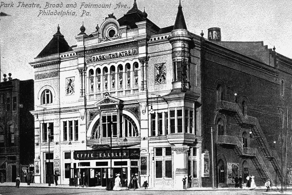<p><p>A post card from 1905 shows the Park Theater at the corner of Broad Street and Fairmount Avenue. (Historical image courtesy of Arcadia Publishing.)</p></p>
