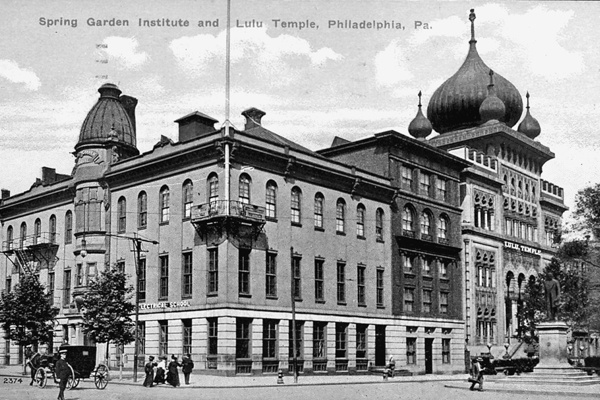 <p><p>Built in 1851, the First New Jerusalem Society, also known as the Spring Garden Institute, was a technical school for art and electrical apprentices. (Historical image courtesy of Arcadia Publishing.)</p></p>