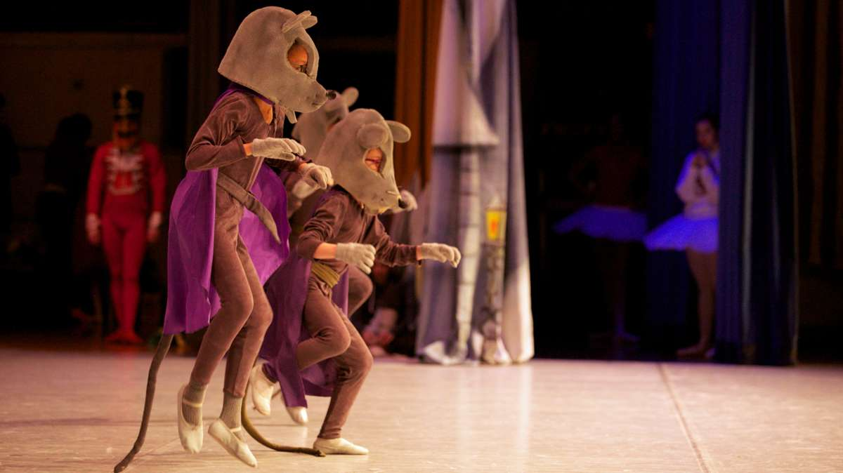 Young dancers make many costume changes throughout the performance, acting as Mice, Children's Guests, Soldiers, and Mother Gingers Children. (Nathaniel Hamilton/for Newsworks)