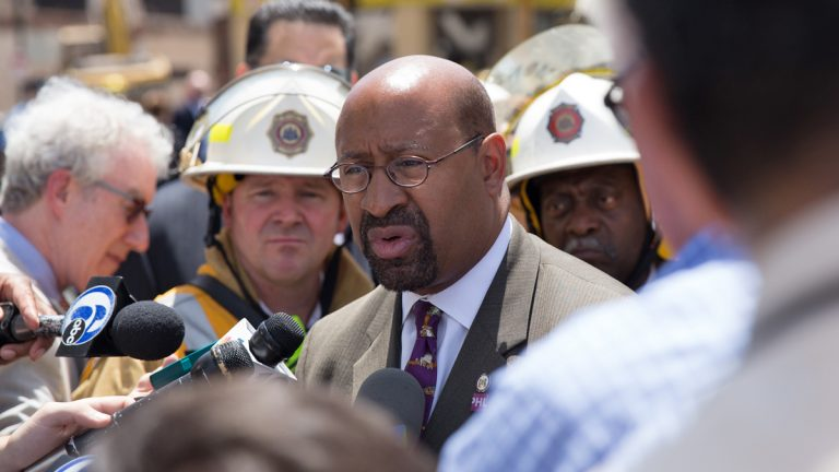 Philadelphia Mayor Michael Nutter announced new tighter regulations for demolitions in the city. (Lindsay Lazarski/WHYY, file)