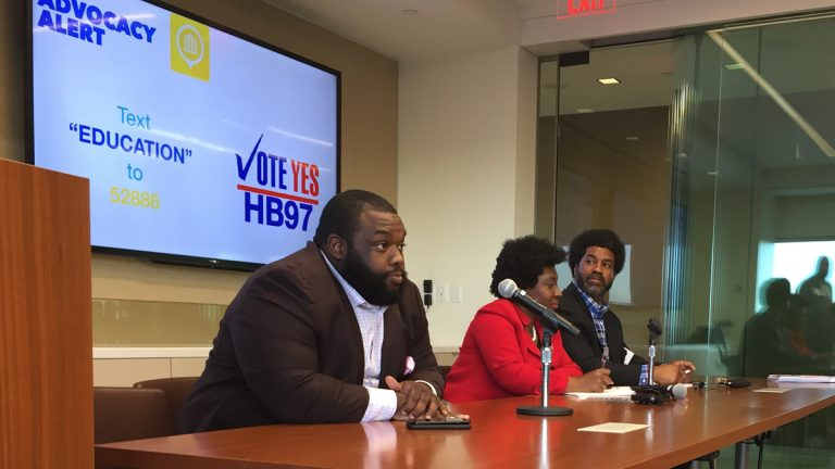 Pennsylvania Rep. Jordan Harris (left) says that, under the new law, if people with sealed records are asked about prior convictions, it will be as if the crime never happened. (WHYY file)