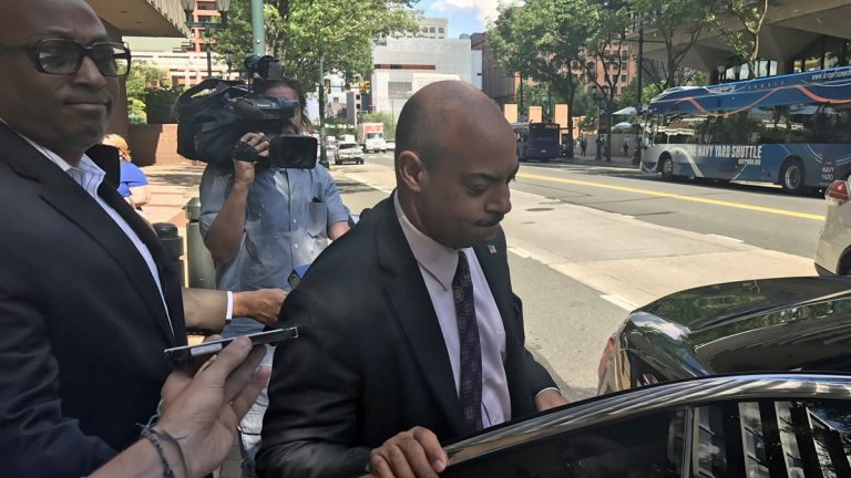 Philadelphia District Attorney leaves federal court Tuesday.(Bobby Allyn/WHYY)