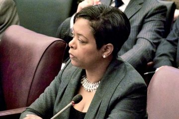 Philadelphia Councilwoman Cindy Bass outlined concerns about the city's plan for a safe-injection site for drug users. She says it would expose the city to liability officials have not fully considered. (Tom MacDonald/WHYY)