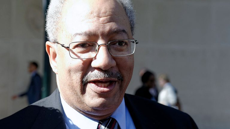 U.S. Rep. Chaka Fattah appears at the U.S. Courthouse in Philadelphia last week at the start of his trial on corruption charges. (Bastiaan Slabbers for NewsWorks)