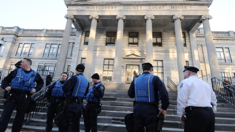 The Montgomery County Courthouse in Norristown, Pennsylvania, will be the site of the Bill Cosby trial beginning Monday. (Bastiaan Slabbers/for NewsWorks, file)