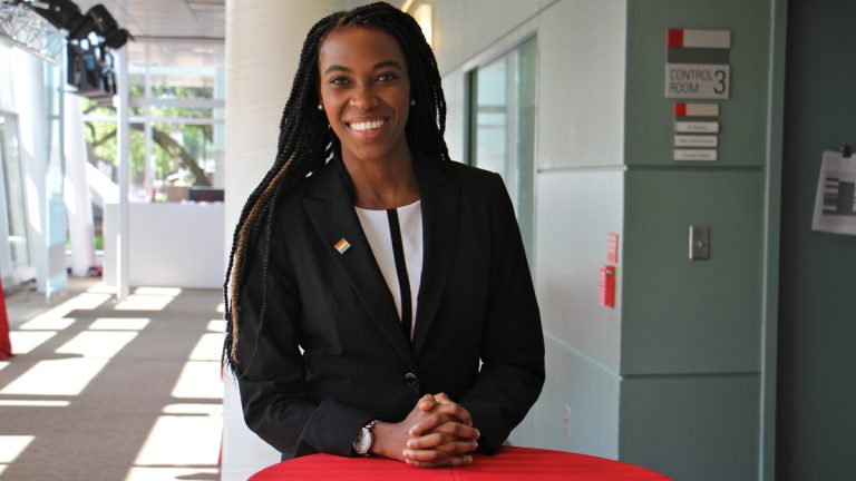 Amber Hikes is the executive director of Philadelphia's Office of LGBT Affairs. (Emma Lee/WHYY)