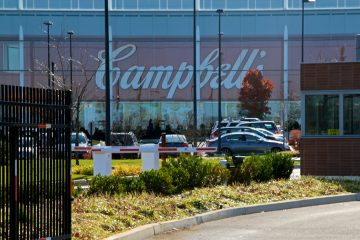 The Campbell's Soup plant off South 11th Street in Camden. (Emma Lee/WHYY)