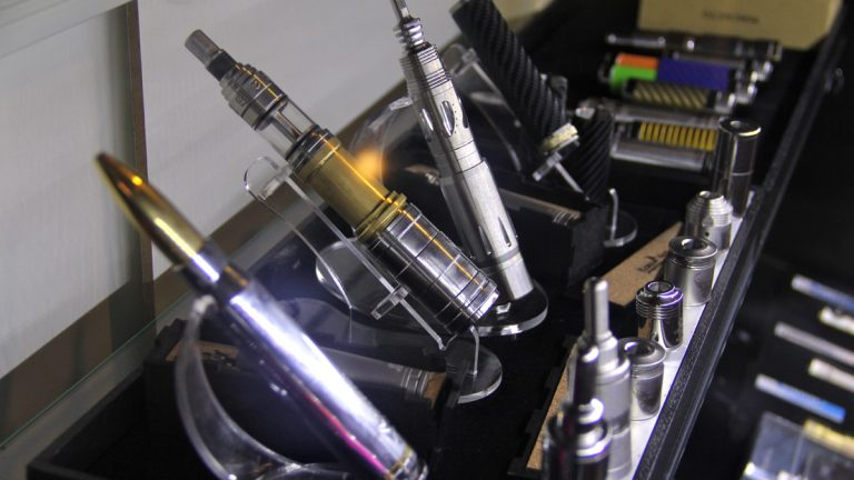 Electronic cigarettes or vaping devices range in price from about $50 to more than $200. A new bill in New Jersey would extend tobacco taxes to devices such as these. (Emma Lee/for NewsWorks)