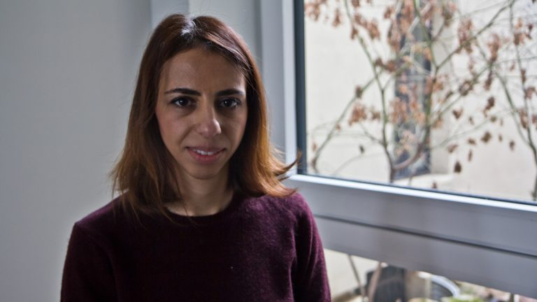 Halee Bouchehrian is a Philly resident who was born in Germany to Iranian immigrant parents and is a permanent resident of the U.S. (Kimberly Paynter/WHYY)