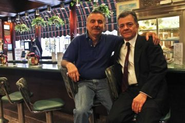 John and Peter Koutroubas are co-owners of Little Pete's restaurants. (Kimberly Paynter/WHYY)