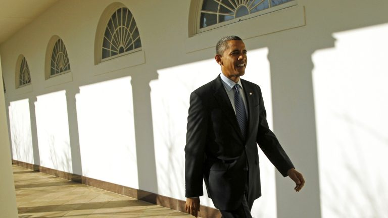President Barack Obama is shown walking from the Oval Office along the Colonnade of the White House. (AP Photo/Haraz N. Ghanbari, file)