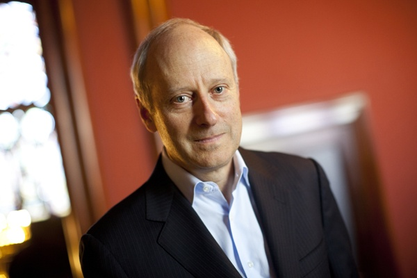 """<p>Michael Sandel, Anne T. and Robert M. Bass Professor of Government, speaks about his latest book, """"What Money Can't Buy: The Moral Limits of Markets"""" for a Harvard Bound piece in the Harvard Gazette. Michael Sandel is pictured inside Memorial Hall at Harvard University. Stephanie Mitchell/Harvard Staff Photographer</p>"""