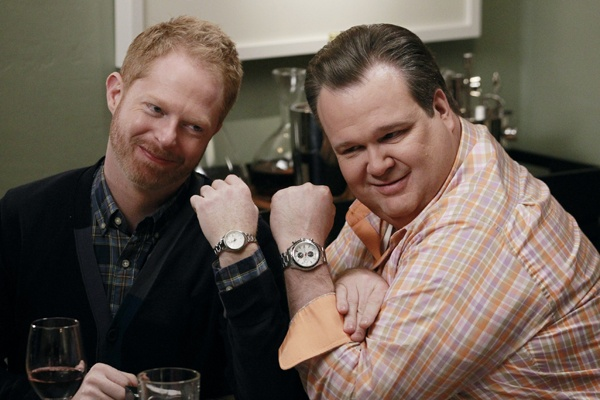 """<p>Jesse Tyler Ferguson, left, and Eric Stonestreet play Mitchell and Cam in ABC's """"Modern Family."""" They can be seen as proxies for committed same-sex couples, who  see hope in Obama's reelection.   (AP Photo/ABC, Peter Stone)</p>"""
