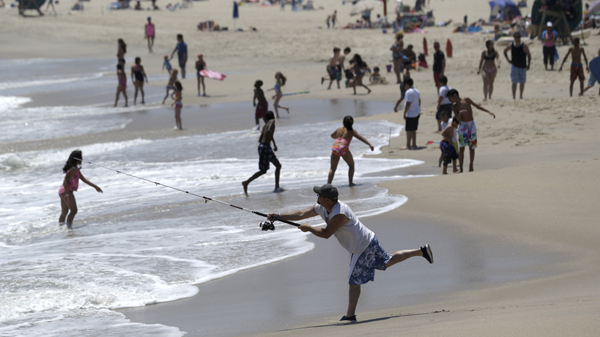 The ocean water near the Jersey Shore is starting to get warmer. (Julio Cortez/AP Photo, file)