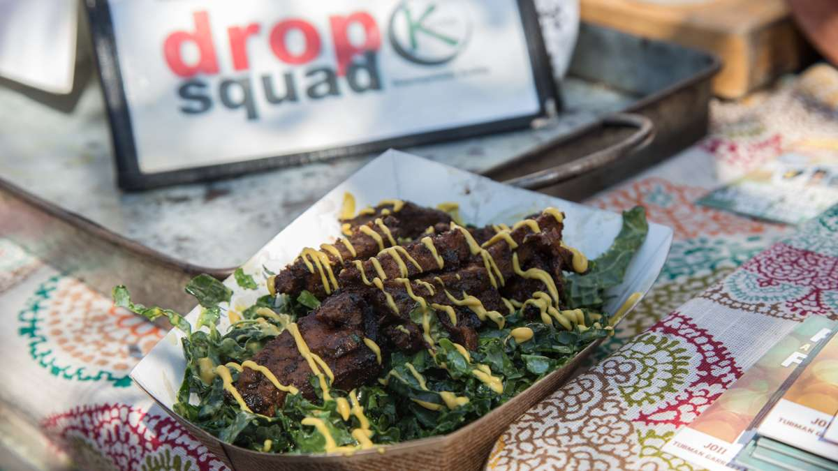 A vegan Jamaican jerk salad from Drop Squad Kitchen.