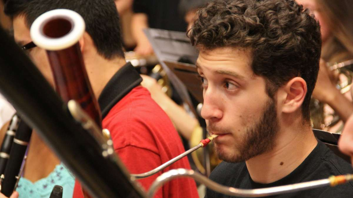 Dotan Yarden is principal bassoonist for the All City Orchestra. (Emma Lee/WHYY)